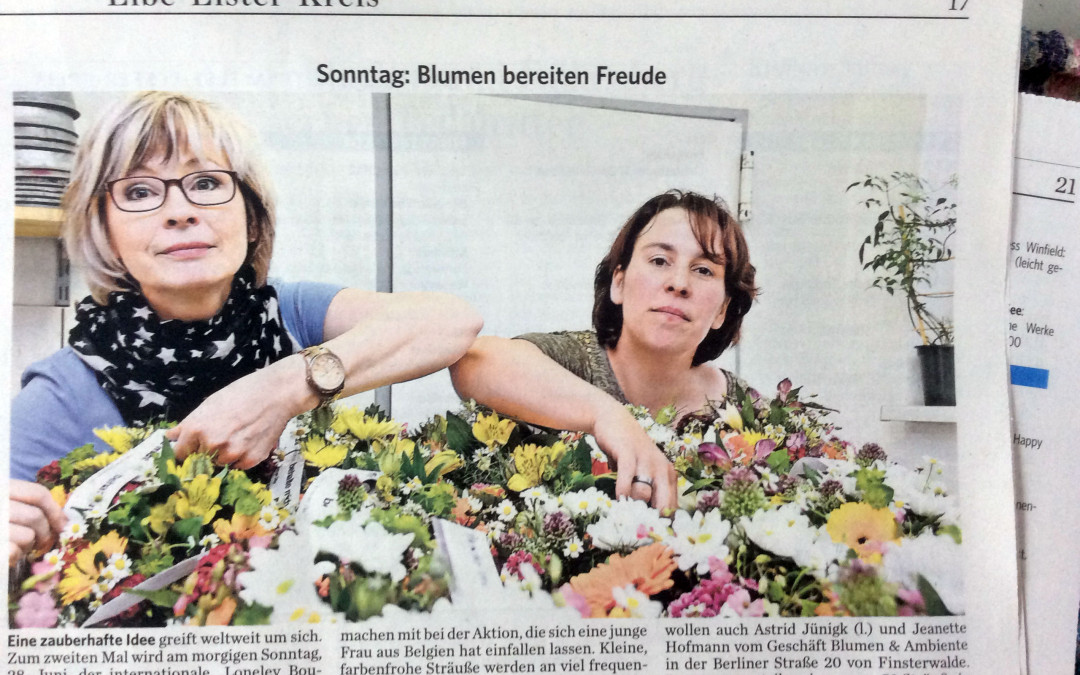 50 Blumensträuße in der Sängerstadt